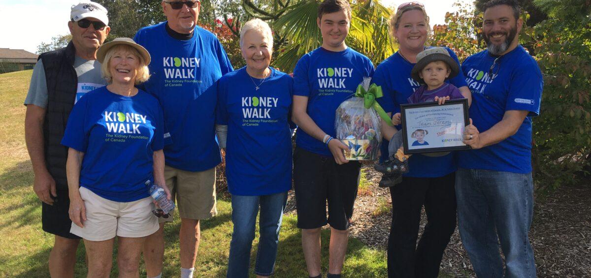 jeremy during kidney walk